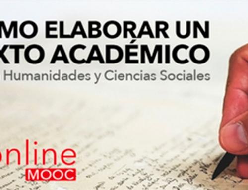 Nueva edición del MOOC: Cómo elaborar un texto académico en humanidades y ciencias sociales