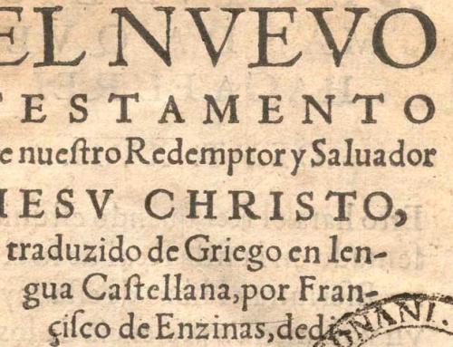 Congreso Internacional La memoria de un hombre. Francisco de Enzinas en el V Centenario de la Reforma Protestante