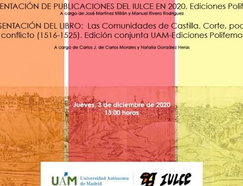 Presentación de «Las Comunidades de Castilla. Corte, poder y conflicto (1516-1525)»