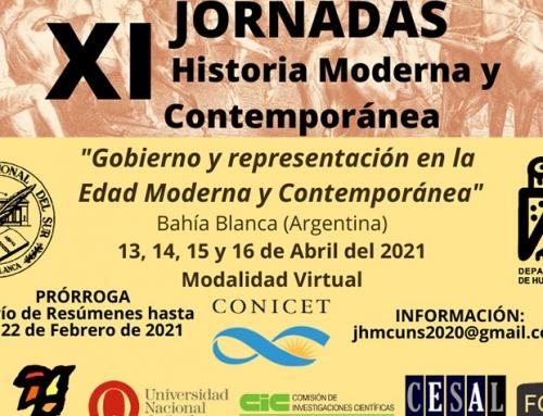 XI Jornadas de Historia Moderna y Contemporánea